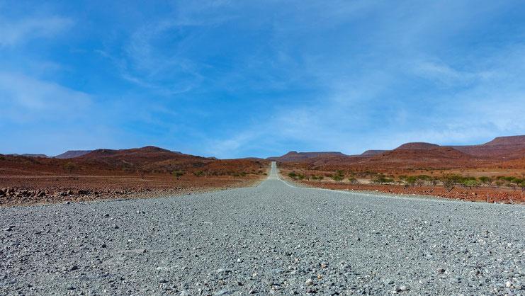 Piste grise, Damaraland, Namibie
