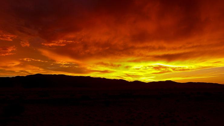 Embrasement sur le Namib