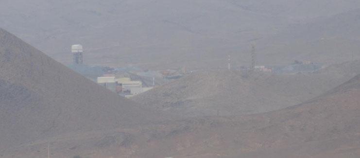 Installations de la mine d'argent exploitée par la SMI, à 3 km de Imider