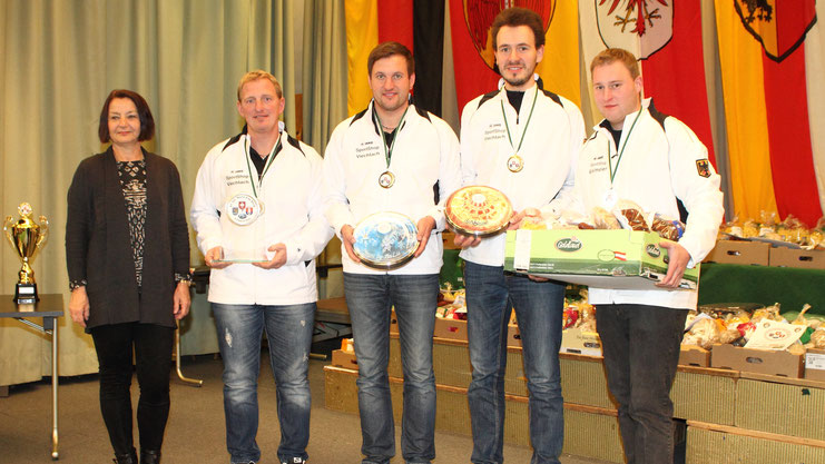 Team GER: Andreas Greil, Christoph Öttl, Matthias Peischer u. Martin Kamml