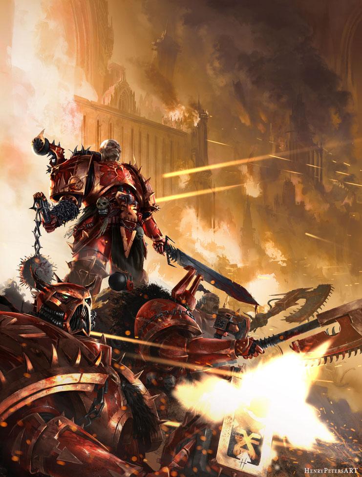 World Eaters Happyplace - Fanart by Henry Peters : Warhammer40k