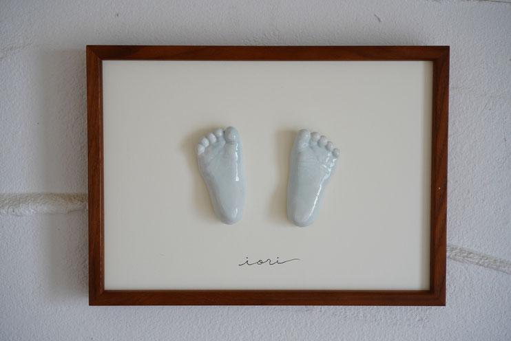 陶芸家 ブログ 焼き物 陶芸作品 茨城県笠間市 足形 手形 赤ちゃん  子供 立体足形 立体手形 記念手形
