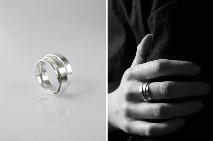 Ring Lien - silver - Nelly Chemin -  contemporary jewelry