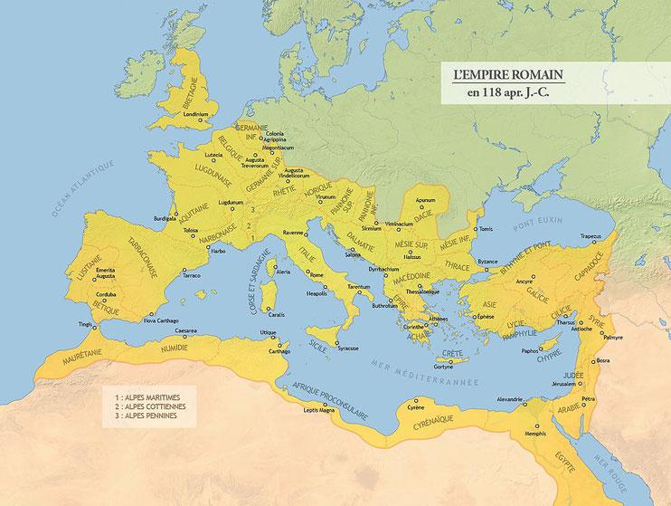 La bataille de Corinthe, en 146 av J-C, aboutit à la destruction totale de Corinthe par les Romains et marque le début de la période de domination romaine dans l'histoire grecque.  A partir de 146 av J-C, l'Empire romain est la puissance dominante.