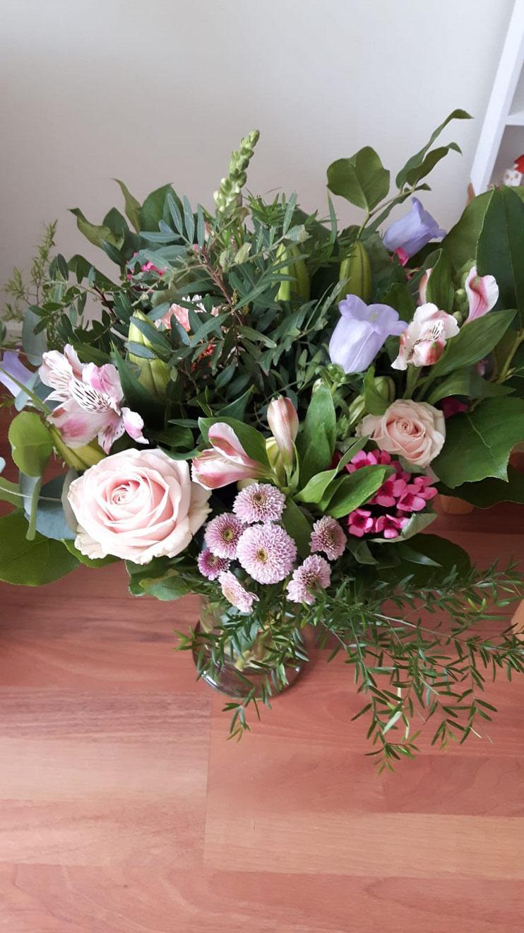 De bloemen voor mijn eigen mama