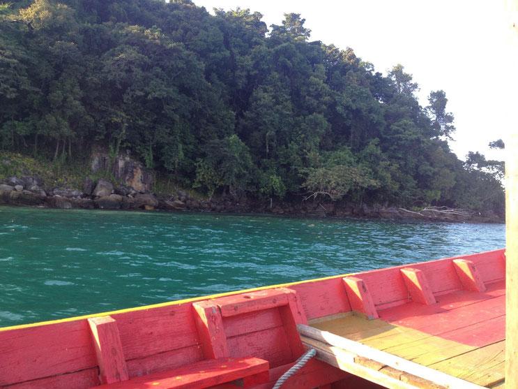 longboat in cambodia - koh rong samleom