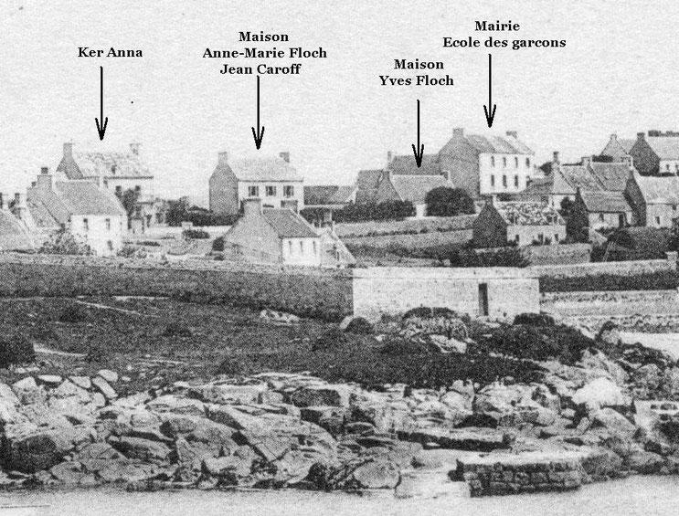 Implantation des maisons de Creac'h bihan