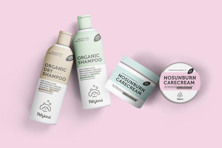Hunde Shampoo Packaging Logodesign