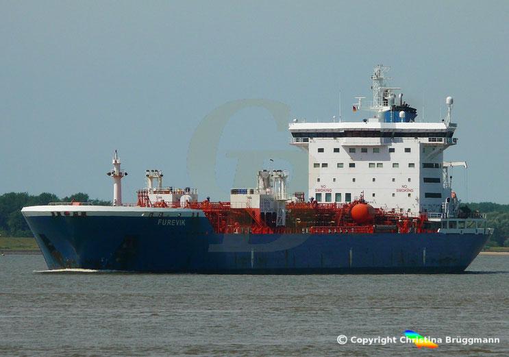 Chemie- /Öltanker FUREVIK, Elbe 29.07.2018