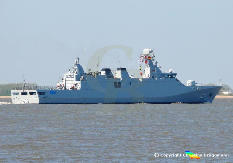 Marokkanische Fregatte ALLAL BEN ABDELLAH, nach Flottenbesuch in Hamburg
