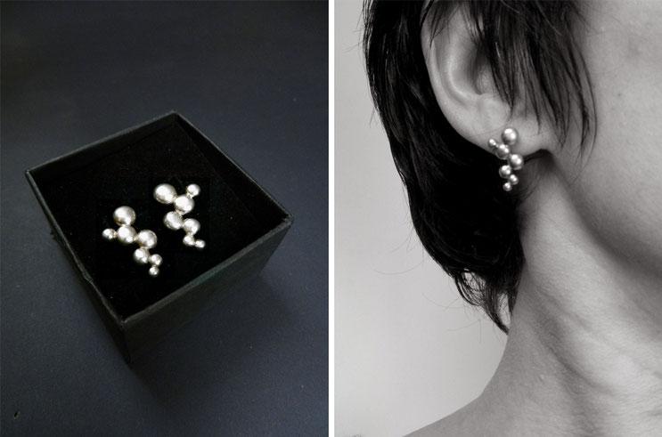 Bague Globule - argent - Nelly Chemin - bijoux contemporains