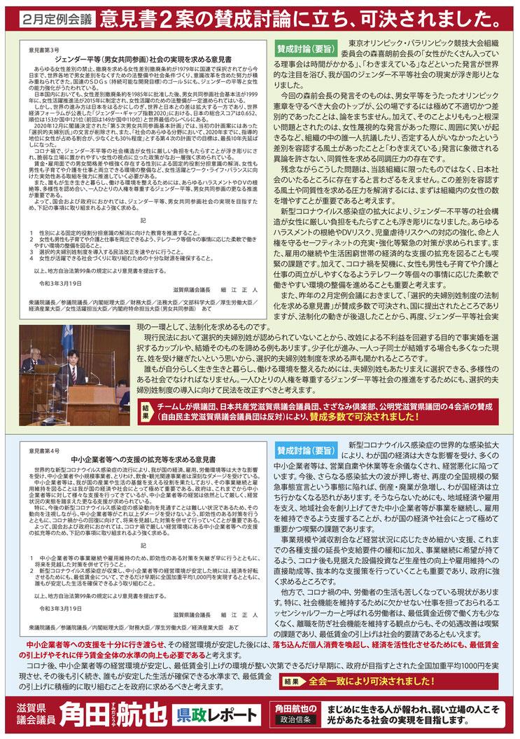 県政レポート VOL.30 表面-2