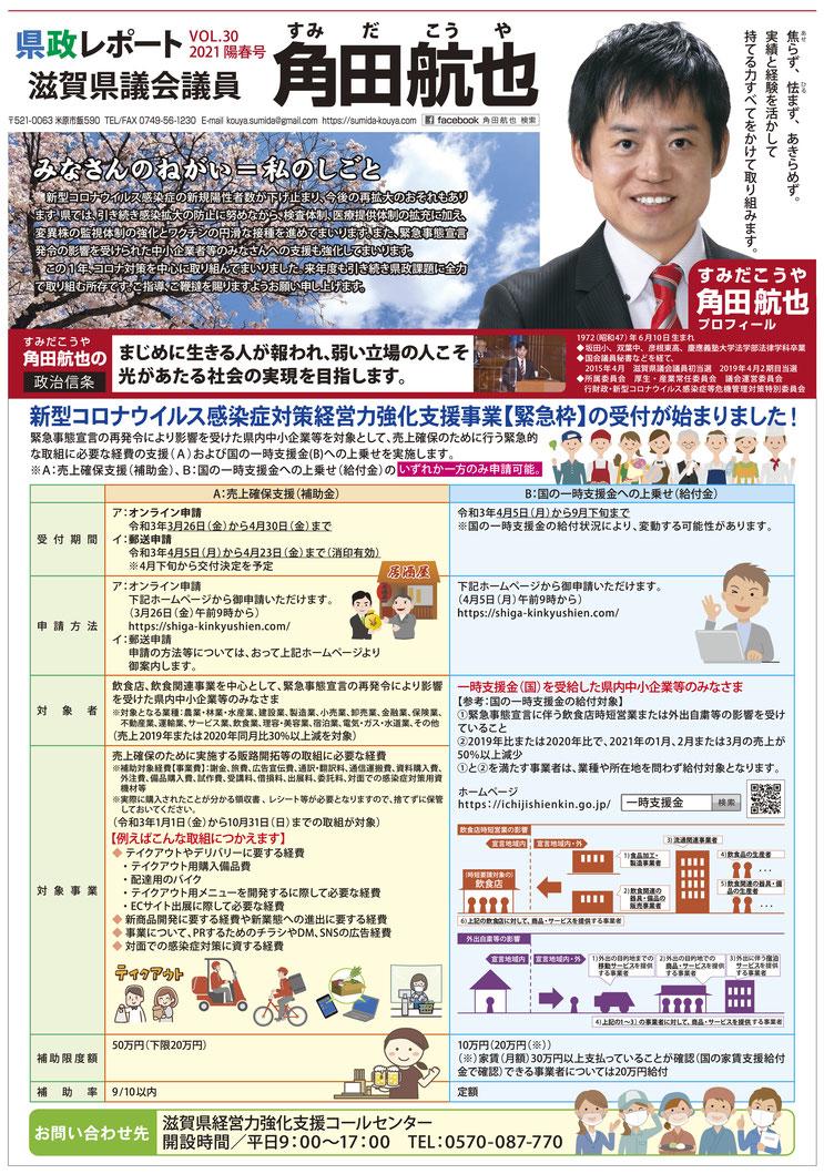 県政レポート VOL.30 表面-1