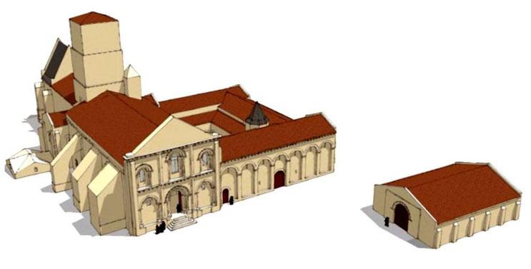 17 - Sainte-Gemme : Restitution du prieuré au XV° siècle - Chaise-Dieu - France - Bénédictins