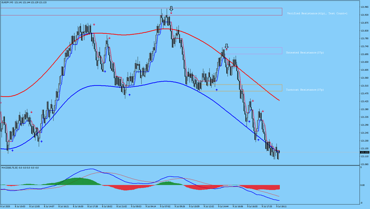 Renko with Half Trend and MACD
