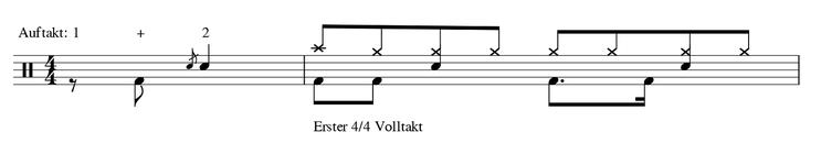 Takte Musik Auftakt Volltakt Beispiele und Definition