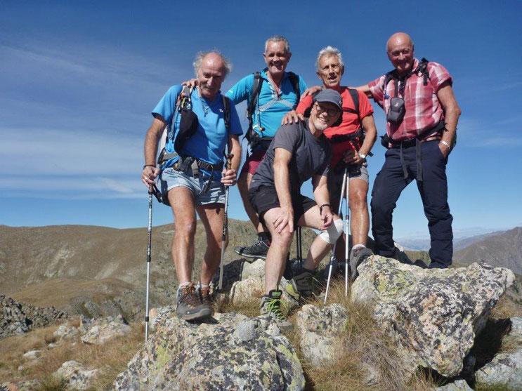 JPA, CV, MR, GA, GG. Tête des Marges (2550 m)