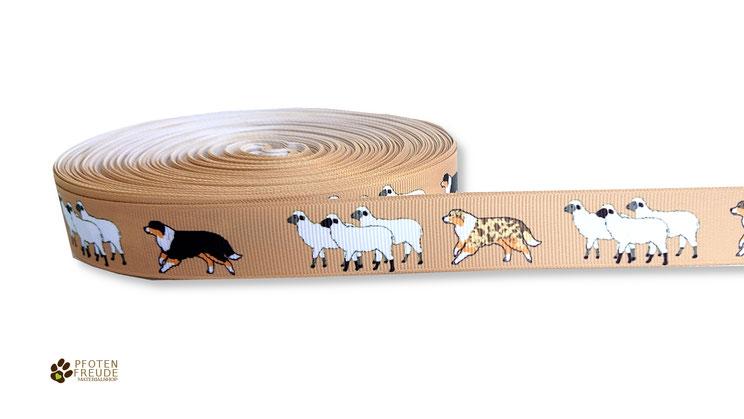 Webband Schafe Aussieborte Hund Borte