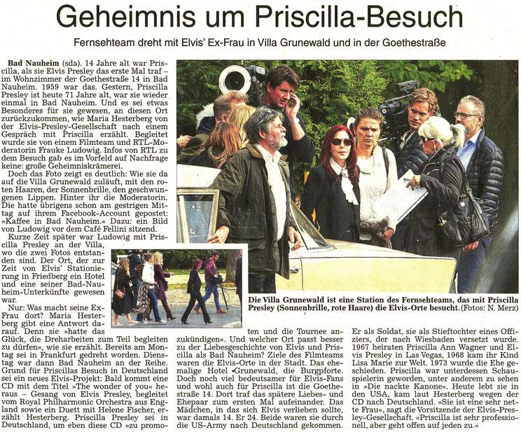 Geheimnis um Priscilla-Besuch, WZ 19.102016, Text: Sabrina Dämon, Foto: Nici Merz