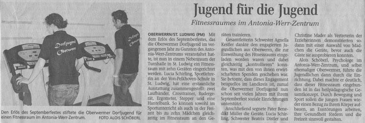 16.05.2007 Schweinfurter Tagblatt