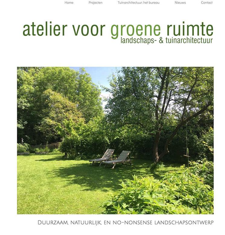 website ontwerp: Atelier voor groene ruimte - Kruisem