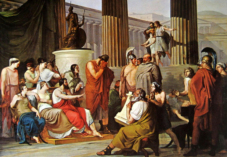 """F. Hayez, """"Ulisse alla corte di Alcinoo"""" (1814-16)"""