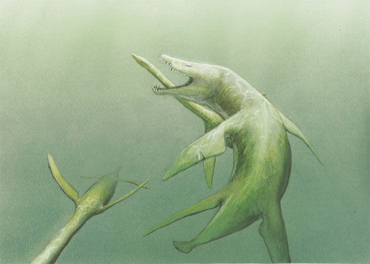 Wealden pliosauromorph reconstruction by Joschua Knüppe