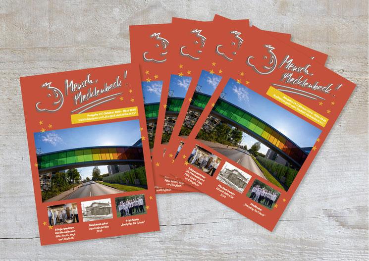 Image Design. Mensch Mecklenbeck Ausgabe 14, Oktober - März 2019/2020. Von Funkenflug Design Münster.