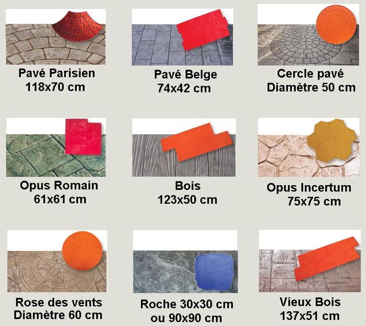 Couleurs béton et empreintes béton imprimé