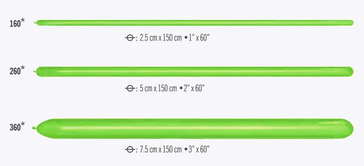 Размеры шаров для моделирования ШДМ