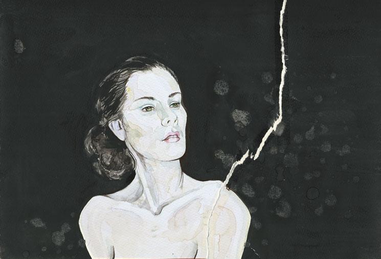 Salz, Aquarell, 2014, Damaris Rohner