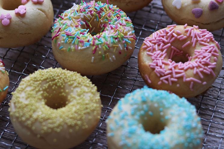Donuts mit Zuckerstreusel