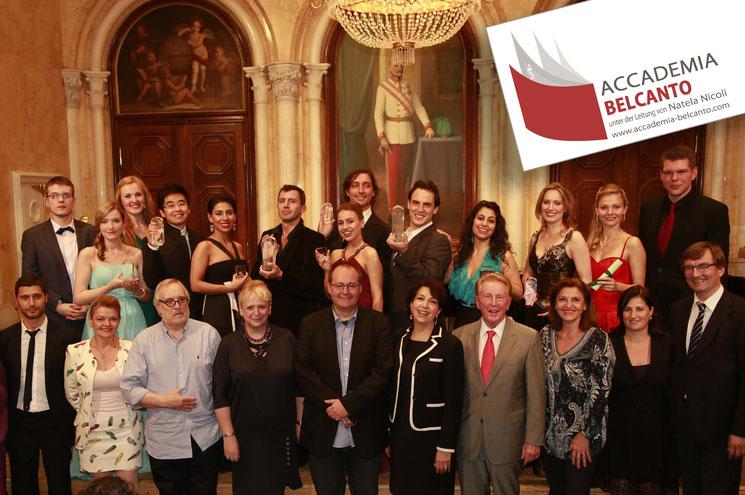 Preisträger, Finalisten und Jury des Wettbewerbs 2014 im wundervollen Florentinersaal der KUG