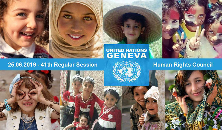 25.06.2019 - United Nations: 41th session of the Human Rights Council in Geneve - The disastrous consquences of the aggression on health situaition in Yemen