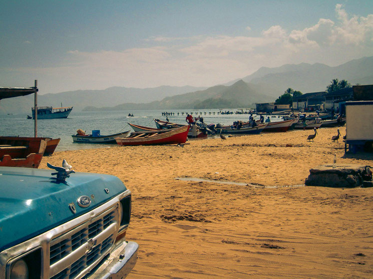 Strandleben in Venezuela