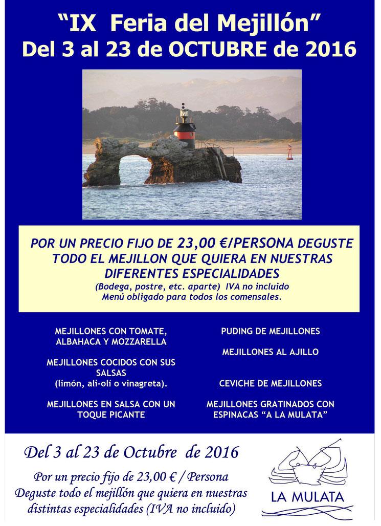 feria del mejillón restaurante la Mulata Santander, marisqueria en Santander