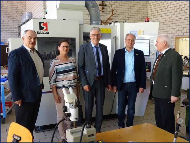 Besuch von Landrat Helmut Rieger und Bürgermeister Matthias Leyn