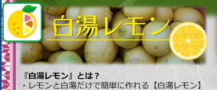 白湯レモン【POP】