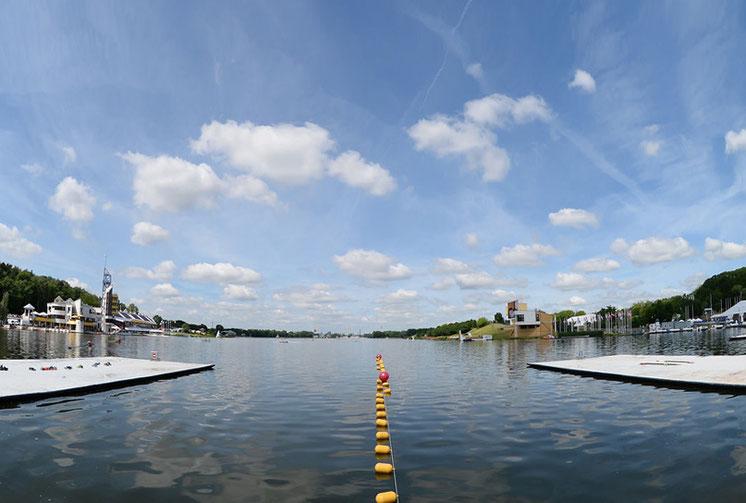 Blick ins Ziel: Regattastrecke Maltasee in Posen (Polen). Foto: Detlev Seyb