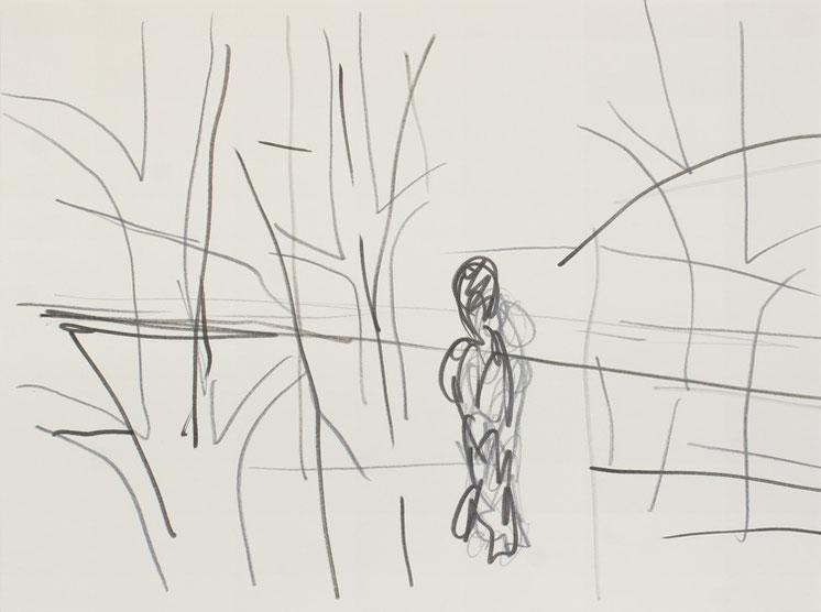 Männlein II / 2016 / 32 x 24 cm / Tusche und Bleistift auf Papier