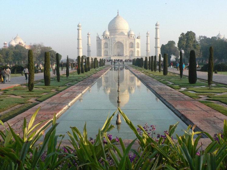Comme de vrais touristes, nous avons fait un tour au Taj Mahal