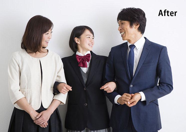 子供や夫婦間の関係も良好になり笑顔の家族