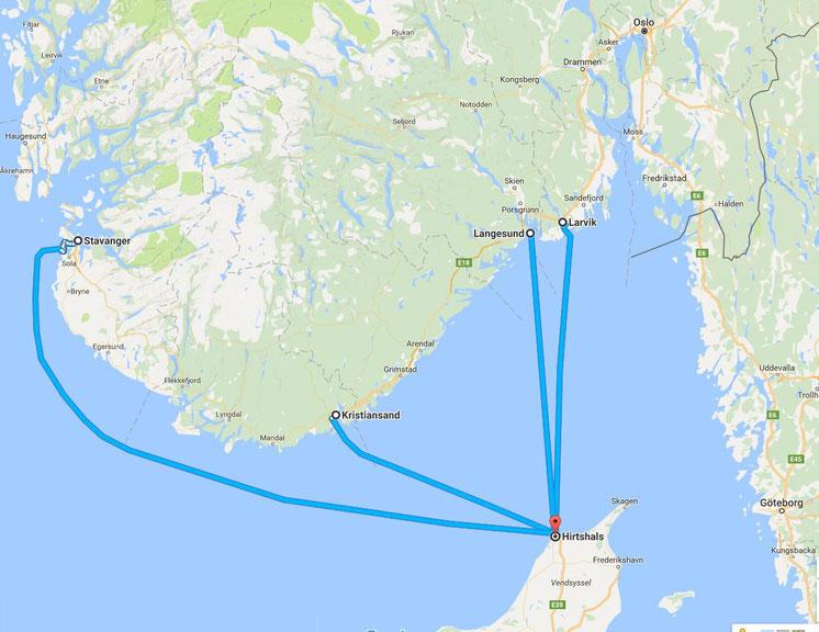 Briefe Von Norwegen Nach Deutschland : Nach norwegen mit dem auto reisen routen karten und