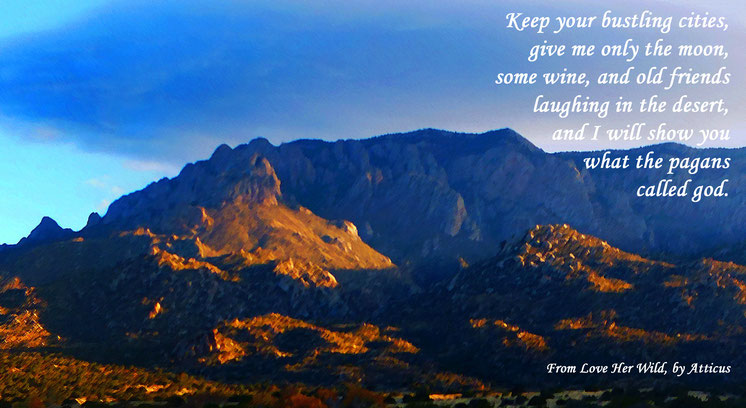 Sandia Mountains, Atticus, Keep Your Bustling Cities, New Mexico