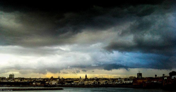 Luz después de la tormenta. Rabat. Marruecos, nubes,