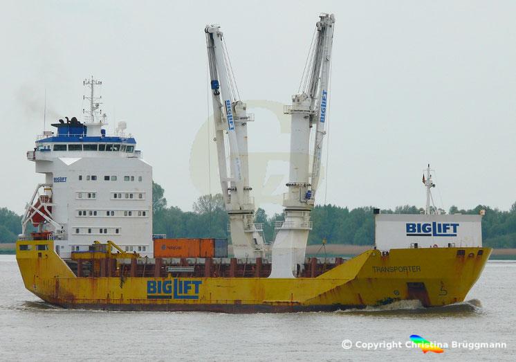 BIGLIFT Schwergutfrachter TRANSPORTER, Elbe 08.05.2019