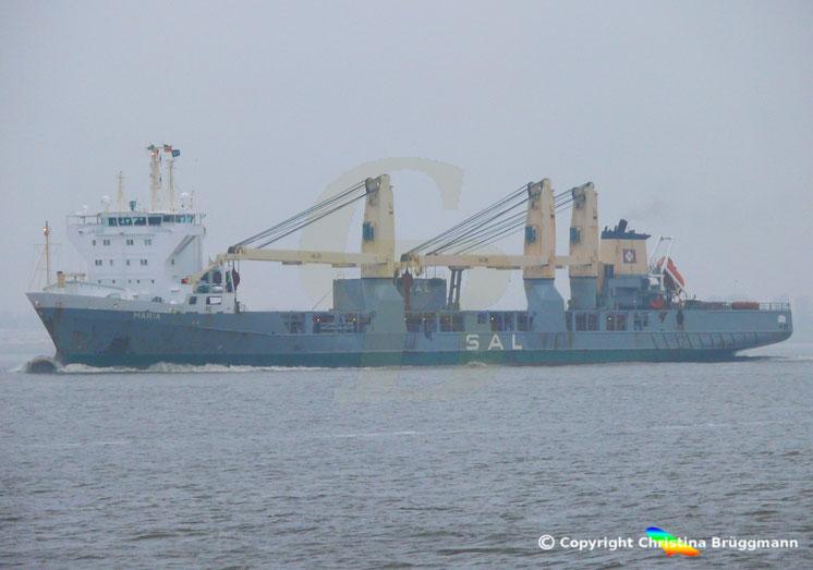 Schwergutfrachter MARIA der SAL Heavy Lift, Elbe 23.11.2018