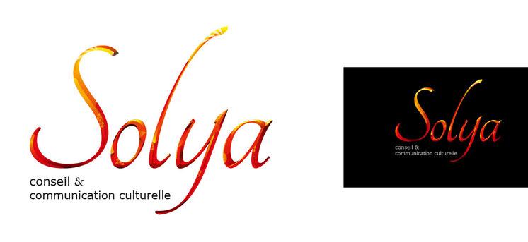 Logo Solya fond blanc et fond noir