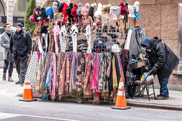 Vendeur de rue, 7ème Avenue, New York
