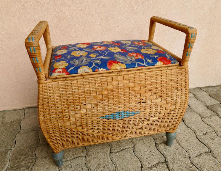DIY Projekt Wäschekorb wird schäbig chic